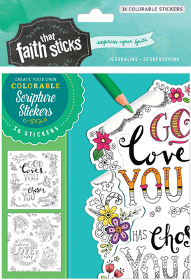 1 Thessalonians 1:4 Colorable Stickers -
