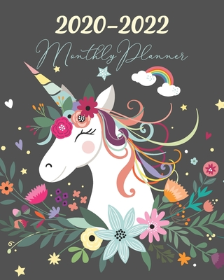 2020-2022 Monthly Planner: Three Year 36 Months Calendar Agenda, Monthly Weekly Yearly Notebook Planner Organizer Schedule With Inspirational Quotes and Holidays, Unicorn Floral - Stallworth, Joni