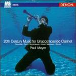20th Century Music for Unaccompanied Clarinet