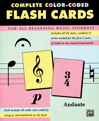 89 Color-Coded Flash Cards: Flash Cards - Alfred Publishing (Editor)