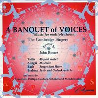A Banquet of Voices - Andrew Carwood (tenor); Angus Smith (tenor); Benjamin Thompson (bass); Bruce Hamilton (bass); Cambridge Singers (vocals);...