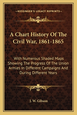 A Chart History of the Civil War, 1861-1865: With Numerous Shaded Maps Showing the Progress of the Union Armies in Different Campaigns and During Different Years - Gibson, J W