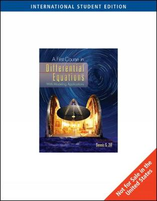 A First Course in Differential Equations - Zill, Dennis G.