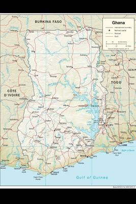 A Map of Ghana in Africa Journal: Take Notes, Write Down Memories in This 150 Page Lined Journal - Journal, Map Lovers