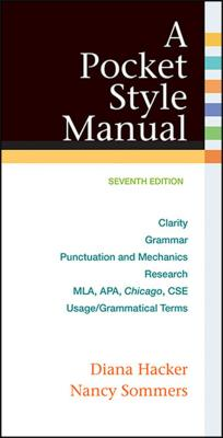 A Pocket Style Manual, with 2016 MLA Update - Hacker, Diana, and Sommers, Nancy