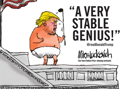 A Very Stable Genius - Luckovich, Mike