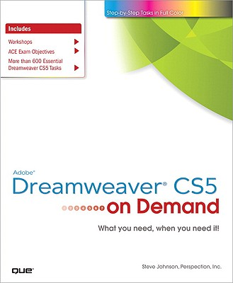 Adobe Dreamweaver CS5 on Demand - Johnson, Steve