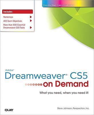 Adobe Dreamweaver CS5 on Demand - Johnson, Steve