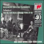 Adolf Busch: Divertimento for 13 Solo Instruments; Schubert: Trio No. 2 for Violin, Cello and Piano, Op. 100