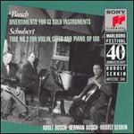 Adolf Busch: Divertimento for 13 Solo Instruments; Schubert: Trio No. 2 for Violin, Cello and Piano, Op. 100
