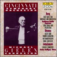 Alban Berg: Lulu & Lyric Suites; Richard Strauss: Death and Transfiguration; Metamorphosen; Oboe Concerto - Kathleen Battle (soprano); Ursula Holliger (harp); Cincinnati Symphony Orchestra; Michael Gielen (conductor)