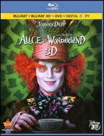 Alice in Wonderland [4 Discs] [Includes Digital Copy] [3D] [Blu-Ray/DVD]