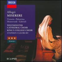 Allegri: Miserere - Andrew Wright (organ); Saul Quirke (treble); King's College Choir of Cambridge (choir, chorus);...