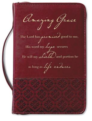 Amazing Grace Italian Duo-Tone Rich Red Cover Large - Zondervan, (Cor)