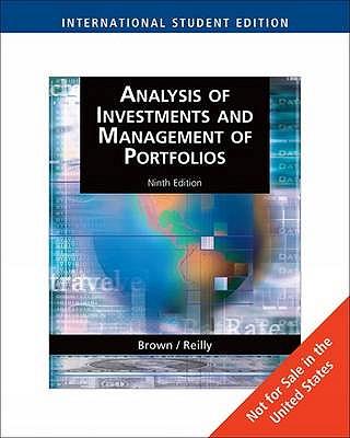Analysis Of Investments And Management Of Portfolios Book By Keith C