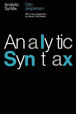 Analytic Syntax - Jespersen, Otto