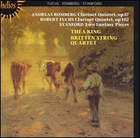 Andreas Romberg, Robert Fuchs: Clarinet Quintets; Stanford: Two Fantasy Pieces - Britten String Quartet; Thea King (clarinet)
