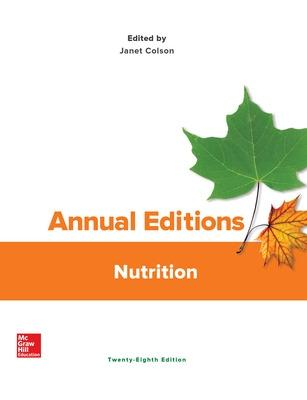 Annual Editions: Nutrition - Colson, Janet M