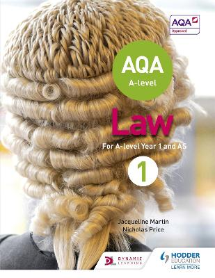 AQA A-level Law for Year 1/AS - Martin, Jacqueline, and Price, Nicholas