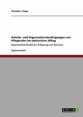 Arbeits- Und Organisationsbedingungen Von Pflegenden Im Stationaren Alltag - Pape, Christian J