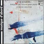Arnold Schönberg: Works for Piano