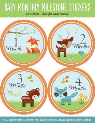 Baby's Monthly Milestone Stickers - Woodland Friends: 12 Stickers: One for Each Month! - Peter Pauper Press, Inc (Creator)