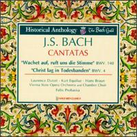 Bach: Cantatas, BWV 140 & 4 - Anton Heiller (continuo); Hans Braun (bass); Jürg Schäftlein (oboe); Kurt Equiluz (tenor); Laurence Dutoit (soprano);...