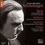 Bach: Ciaccona; Beethoven: Piano Sonata No. 3; Schumann: Faschinschwank aus Wien; Brahms: Variations