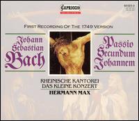 Bach: Passio Secundum Johannem (First Recording of the 1749 Version) - Christoph Prégardien (tenor); Dorothea Röschmann (soprano); Gotthold Schwarz (bass); Hans-Georg Wimmer (bass);...