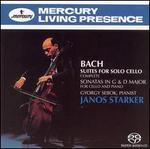Bach: Six Suites; Sonatas in G major & D major - György Sebök (piano); Janos Starker (cello)
