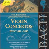 Bach: Violin Concertos, BWV 1041-1043 - Christoph Poppen (violin); Isabelle Faust (violin); Stuttgart Bach Collegium Orchestra; Helmuth Rilling (conductor)