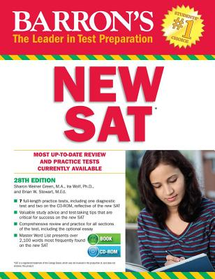 Barron's New SAT, 28th Edition with CD-ROM - Green, Sharon Weiner, and Wolf, Ira K.