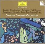 Bartók: Divertimento; Romanian Folk Dances; Stravinsky: Pulcinella Suite; Dumbarton Oaks