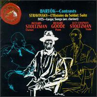 Bartok: Contrasts; Stravinsky: L'Histoire du Soldat Suite; Ives: Largo; Songs - Lucy Chapman Stoltzman (violin); Richard Goode (piano); Richard Stoltzman (clarinet)