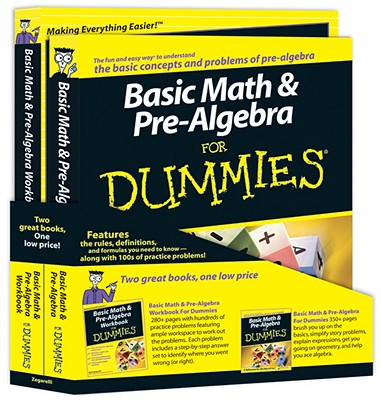 Basic Math and Pre-Algebra for Dummies Education Bundle - Zegarelli, Mark