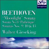 "Beethoven: ""Moonlight"" Sonata; Sonatas Nos. 8 (""Pathétique""), 9, 10, 13 - Walter Gieseking (piano)"