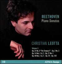 Beethoven: Piano Sonatas, Vol. 3 - Christian Leotta (piano)