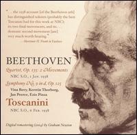 Beethoven: Quartet, Op. 135; Symphony No. 9 in D, Op. 125 - Ezio Pinza (bass); Jan Peerce (tenor); Kerstin Thorborg (mezzo-soprano); Vina Bovy (soprano); NBC Symphony Orchestra;...