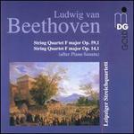 Beethoven: String Quartet F major, Op. 59/1; String Quartet F major, Op. 14/1