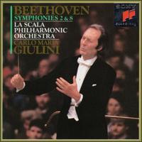 Beethoven: Symphonies Nos. 2 & 8 - La Scala Philharmonic Orchestra; Carlo Maria Giulini (conductor)