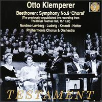 "Beethoven: Symphony No. 9 ""Choral"" [1957 Live Reoording] - Aase Nordmo Løvberg (soprano); Christa Ludwig (contralto); Hans Hotter (bass); Waldemar Kmentt (tenor);..."