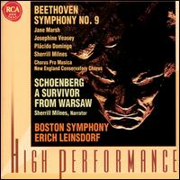 "Beethoven: Symphony No. 9 ""Choral""; Schoenberg: Survivor from Warsaw - Jane Marsh (soprano); Josephine Veasey (mezzo-soprano); Plácido Domingo (tenor); Sherrill Milnes; Sherrill Milnes (baritone);..."