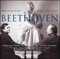 Beethoven: Triple Concerto; Rondo in B flat; Choral Fantasy - Clemens Hagen (cello); Pierre-Laurent Aimard (piano); Thomas Zehetmair (violin); Arnold Schoenberg Choir (choir, chorus);...