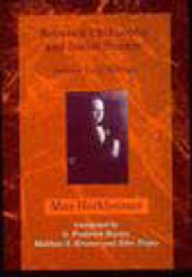 Between Philosophy and Social Science: Selected Early Writings - Horkheimer, Max