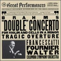 Brahms: Double Concerto; Tragic Overture - Columbia Symphony Orchestra; Bruno Walter (conductor)
