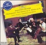 Brahms: Piano Quartet, Op. 75; Balladen, Op. 10