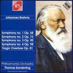 Brahms: Symphonies Nos. 1-4; Tragic Overture