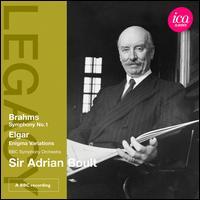 Brahms: Symphony No. 1; Elgar: Enigma Variations - George Thalben-Ball (organ); BBC Symphony Orchestra; Adrian Boult (conductor)