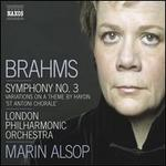 Brahms: Symphony No. 3: Variations on a Theme by Haydn