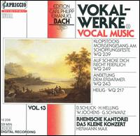 C.P.E. Bach: Vocal Music, Vol. 1 - Barbara Schlick (soprano); Gotthold Schwarz (bass); Hilke Helling (contralto); Johanna Koslowsky (soprano);...